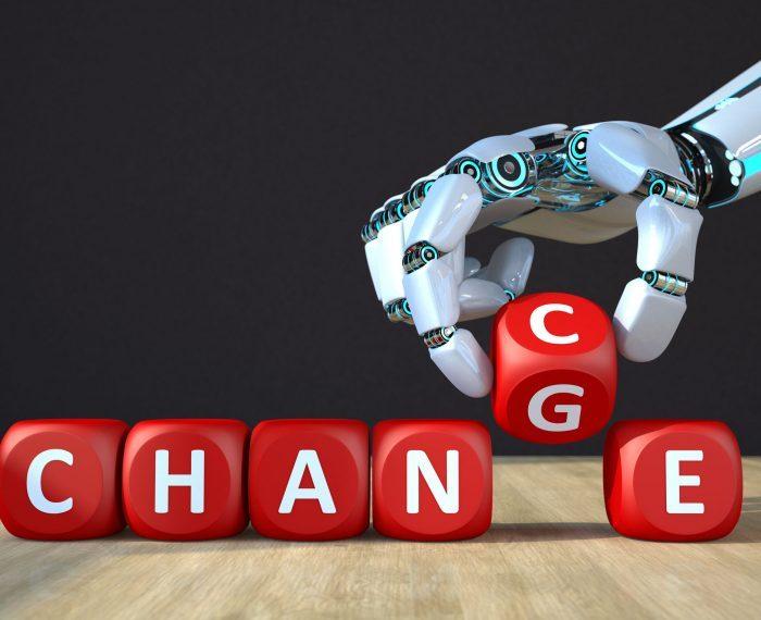 Robot Hand Cubes Change Chance